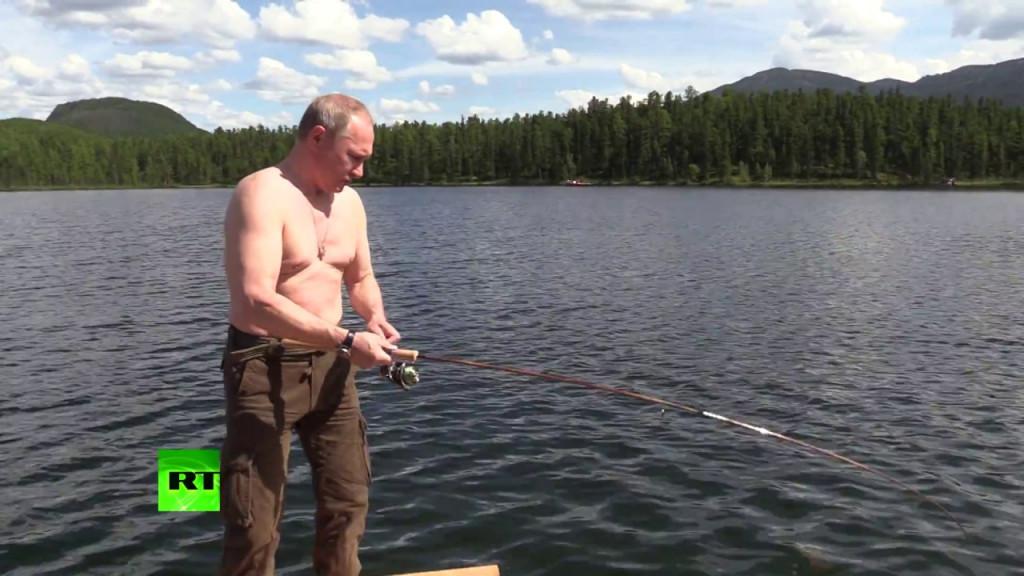 Vladimir Poetin op jacht