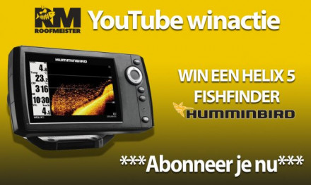 Subscribe op Roofmeister YouTube en maak kans op een fishfinder! – WINNAAR BEKEND