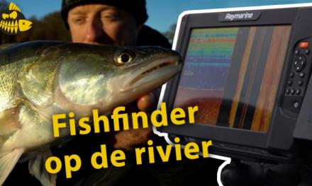 Zo gebruikt HJ Verheij zijn fishfinder op de rivier