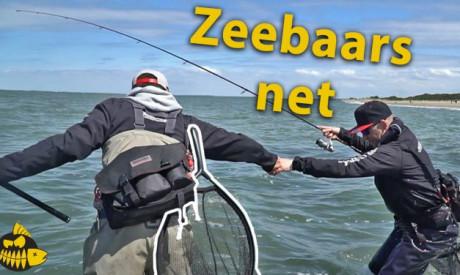 Must have net voor tijdens het vissen op zeebaars